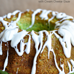 Light & delicious Pistachio Bundt Cake with Cream Cheese Glaze | Thirty Handmade Days