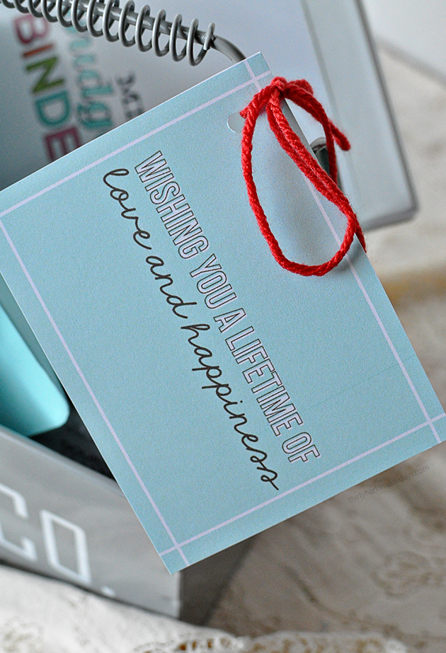 the Practical Bridal Shower (or Wedding) Gift -- what I wish I would've received! Printable tag included.