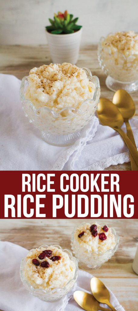 4 Ingredient Rice Cooker Rice Pudding - it's so easy to make and tastes so good! from www.thirtyhandmadedays.com