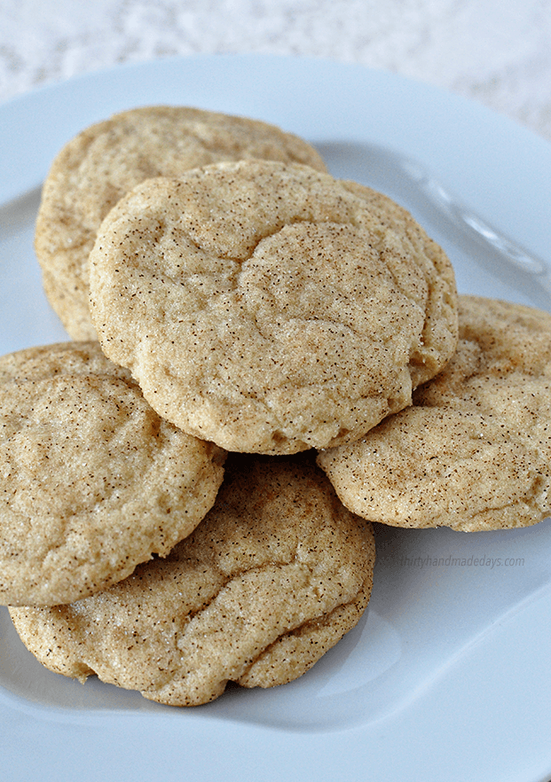 These are hands down the best Snickerdoodle cookies I've ever had. I could eat a dozen in one sitting. via thirtyhandmadedays.com