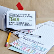 Printable Teacher Appreciation Gift Card + More Ideas