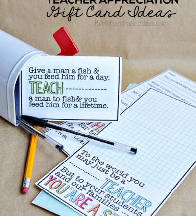 printable teacher appreciation gift card ideas thirty handmade days