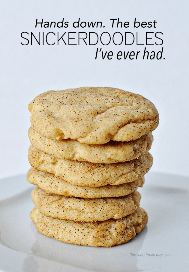 How To Make The Best Snickerdoodle Cookies Ever 30 Handmade Days