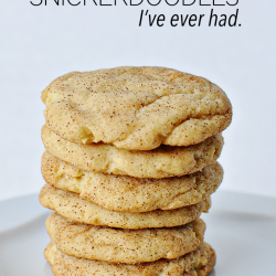 These are hands down the best Snickerdoodle cookies I've ever had. I could eat a dozen in one sitting.