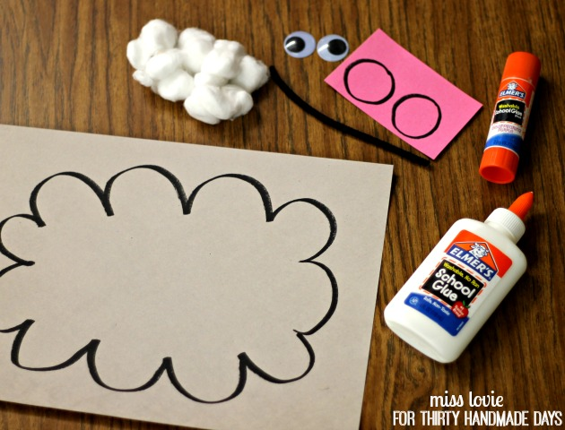 kids craft  spring rain cloud