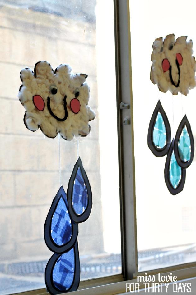 14 happy rain cloud craft