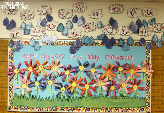 17 April Showers Bring May Flowers Spring Bulletin Board