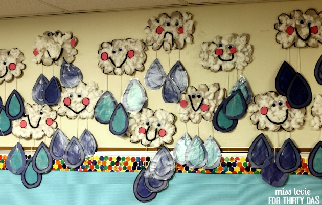 19 Spring Rain Cloud Kids Craft