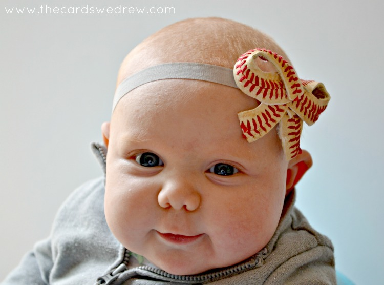 Baby Baseball Bow Headband