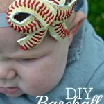 DIY Baseball Bow Headband