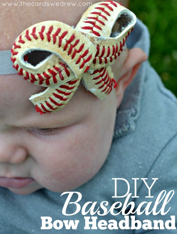 DIY Baseball Bow Headband from The Cards We Drew