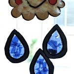 Kids Craft- Stained Glass Rain Cloud