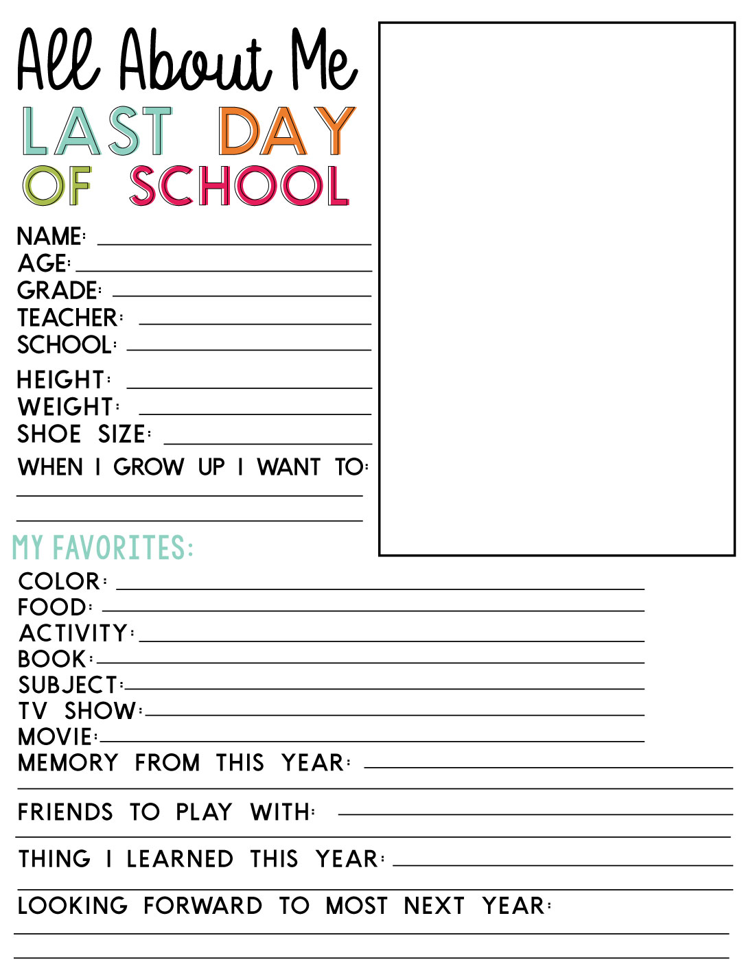 photograph about Last Day of School Printable identify Very last Working day of Faculty Printable