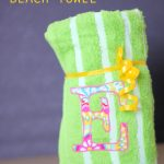 Awesome appliqued beach towel how to on www.thirtyhandmadedays.com