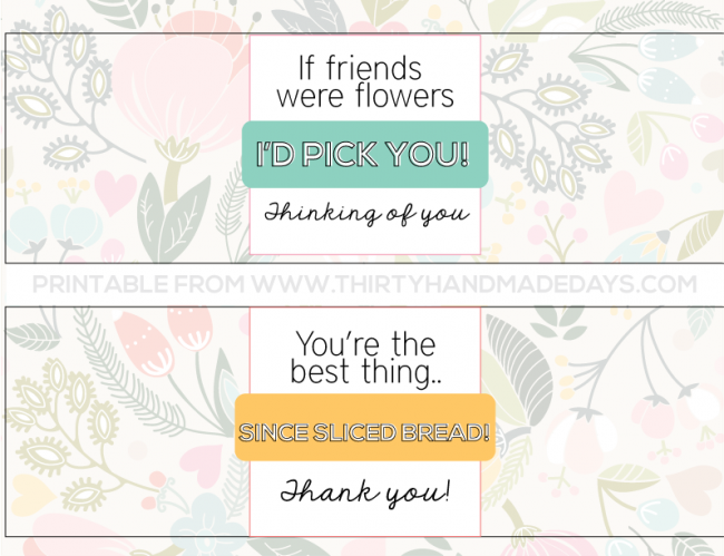 Printable Bread Wrappers --- Thirty Handmade Days