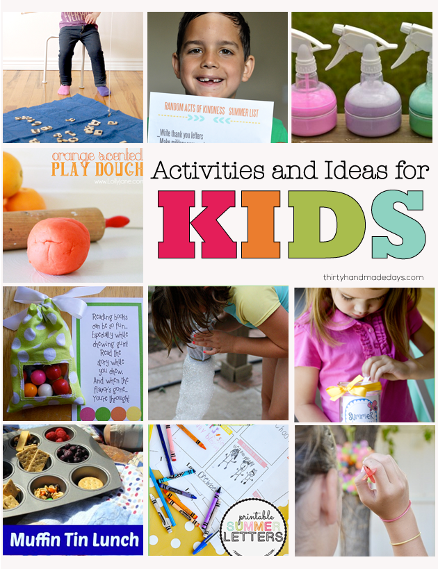 Over 25 ideas for kids to enjoy. Crafts, printables, activities -- tons of ideas to help kids explore, learn and have fun!