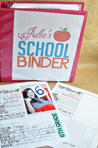 Printable Last Day of School Fill In - to go hand in hand with school binder | Thirty Handmade Days