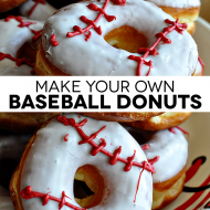 Make Your Own Baseball Donuts & Birthday Banners