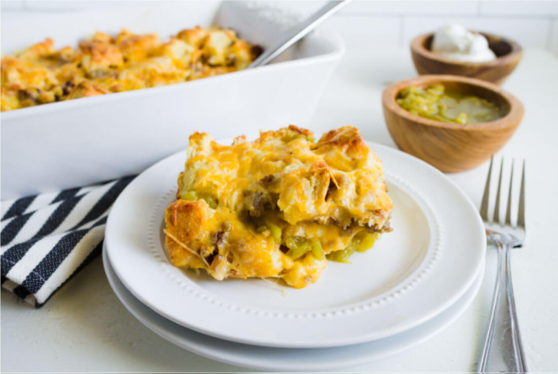 Mexican Breakfast Casserole - a simple breakfast to make that your family will love! from www.thirtyhandmadedays.com