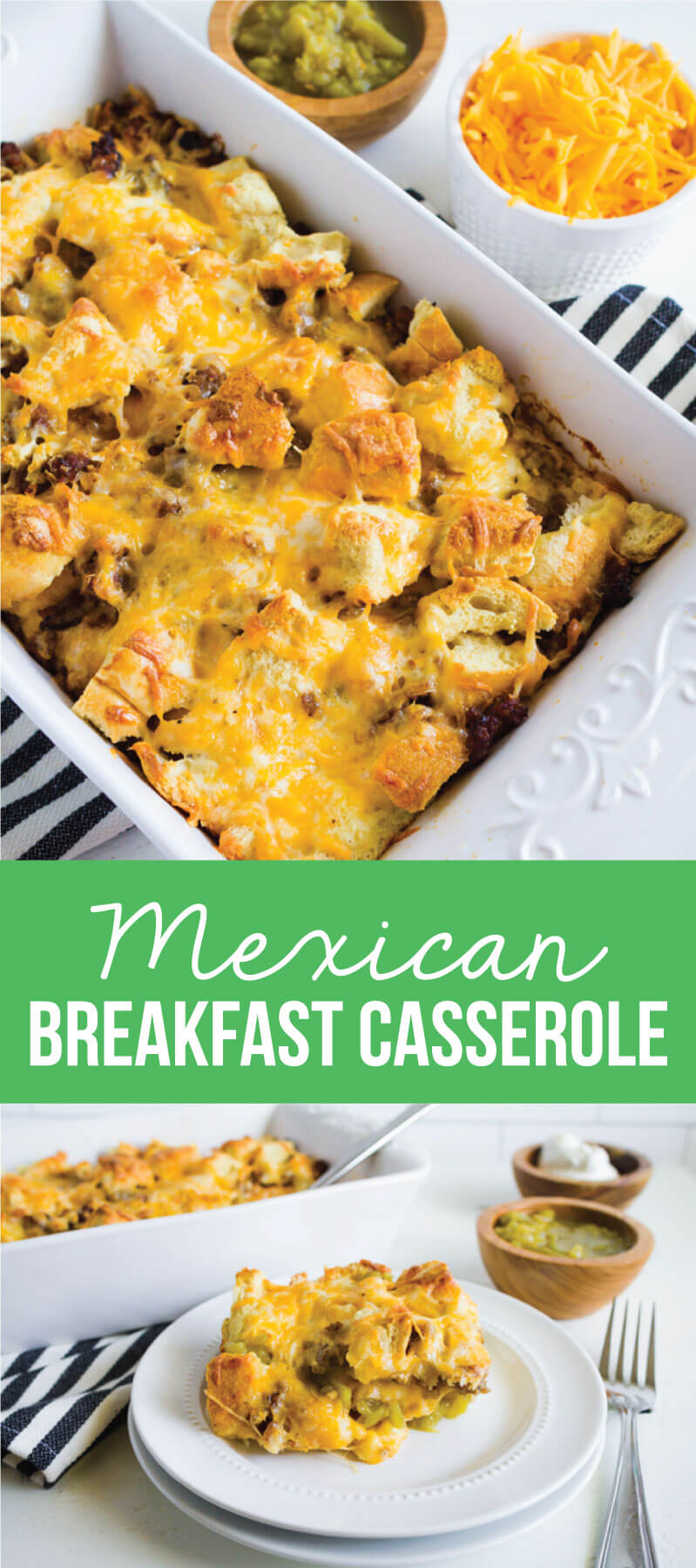 Mexican Breakfast Casserole - a simple breakfast to make that your family will love! from thirtyhandmadedays.com