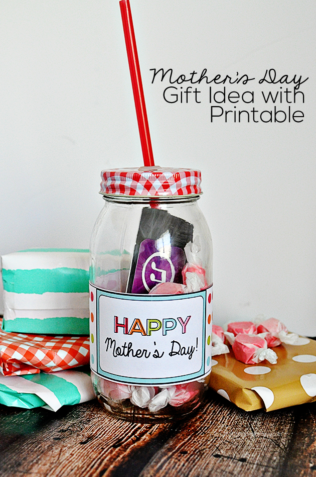 Printable Mother's Day Gift Idea- easy to make and add a little something to a simple gift. @30daysblog