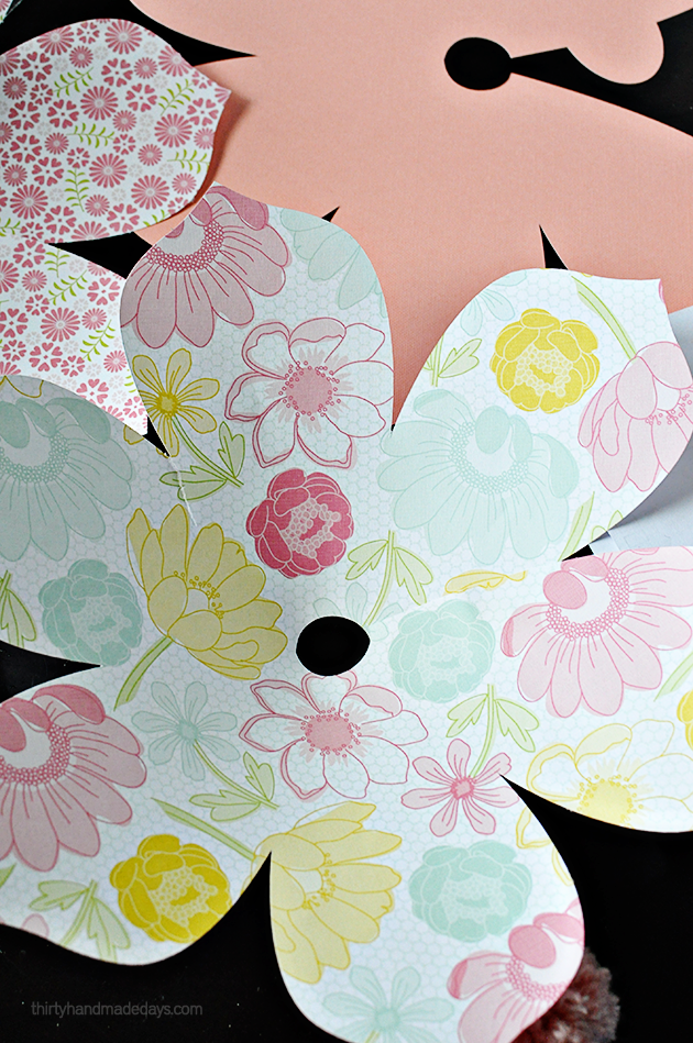 DIY Paper Flower Pom Poms