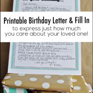 Printable Birthday Letter