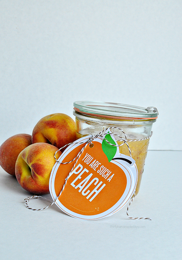 You are such a peach printable gift tags, perfect for body scrub www.thirtyhandmadedays.com