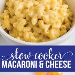 Slow Cooker Macaroni and Cheese Recipe - make this amazing mac and cheese recipe in the crockpot! via thirtyhandmadedays.com