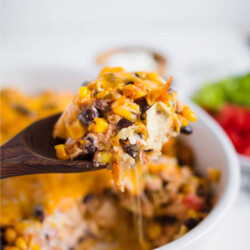 Simple Southwest Chicken Bake- make this yummy main dish and enjoy from www.thirtyhandmadedays.com