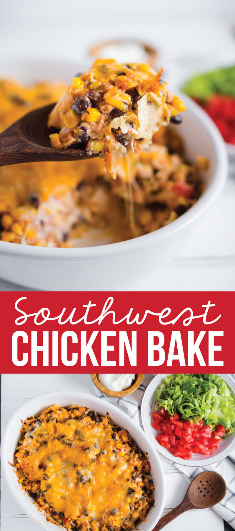 Southwest Chicken Bake- make this yummy main dish and enjoy! from www.thirtyhandmadedays.com