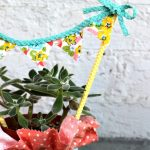 Succulent Hostess Gift with a no-sew bunting banner