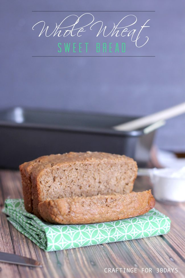 Amazing Whole Wheat Sweet Bread