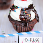 Hot Fudge Sundae Cupcakes from Crazy Little Projects via Thirty Handmade Days