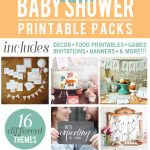 Super awesome Baby Shower Printable Pack via www.thirtyhandmadedays.com