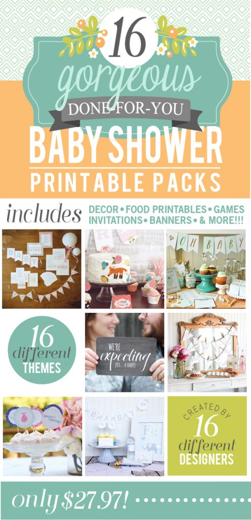 Amazing Baby Shower Pack - over 400 pages! www.thirtyhandmadedays.com