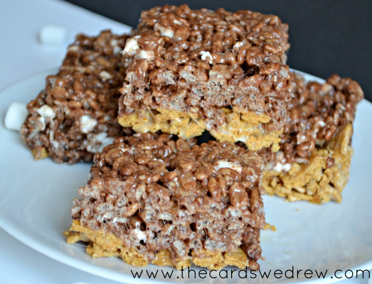 Smores Rice Krispie treats from The Cards We Drew via 30 Days