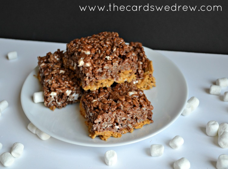 S'mores Rice Krispies with chocolate rice krispie treats