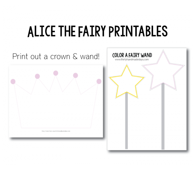 Alice the Fairy Printables