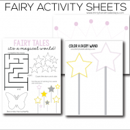 Fairy Printable Worksheets