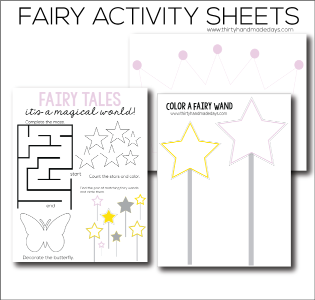 photograph relating to Printable Fairy Tales named Fairy Printable Worksheets