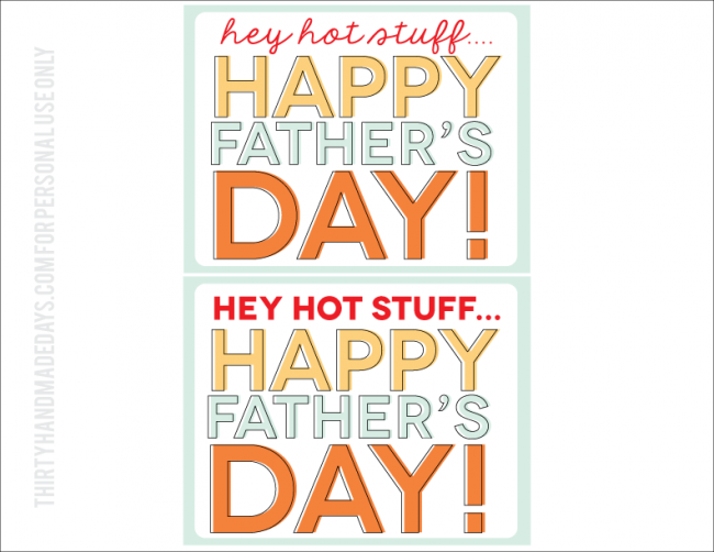 Printable Father's Day Tags