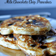 All Time Favorite Milk Chocolate Chip Pancakes