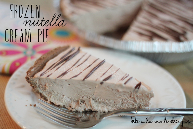 Frozen Nutella Cream Pie - yum!