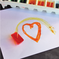 Kids Crafts: Painting with Ice