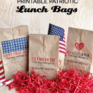 Printable Patriotic Lunch Bags