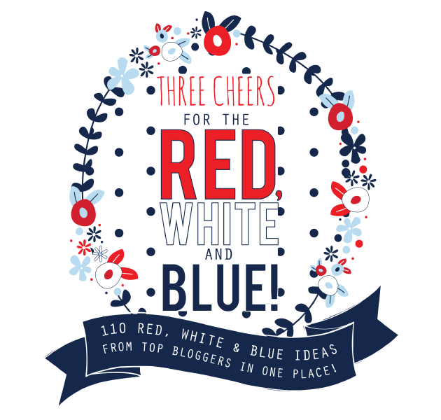 Round up of red white and blue ideas with over 100 bloggers!
