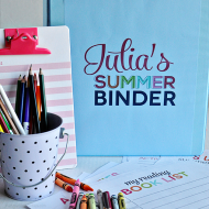 Printable Summer Binder + Activity Sheets