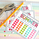 "Summer Activity Punch Cards to prevent ""Mom I'm bored"" all summer long! Print out and get punching. www.thirtyhandmadedays.com"