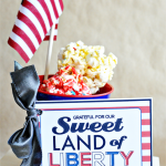 Sweet land of liberty printable card- perfect for a 4th of July treat! So cute from www.thirtyhandmadedays.com